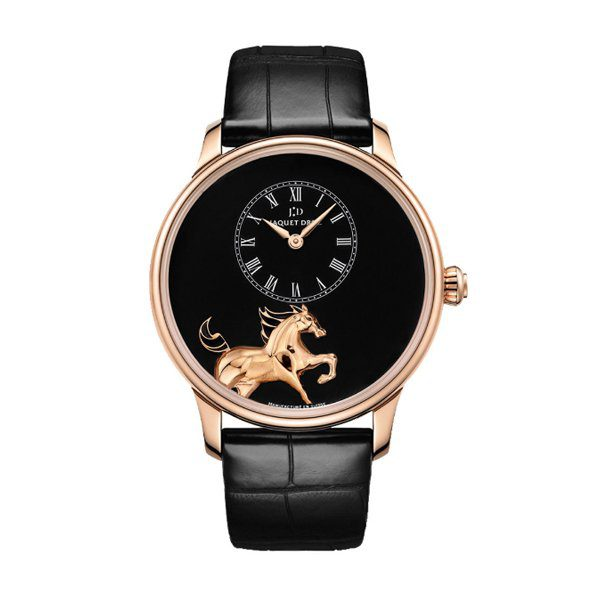 JAQUET-DROZ HEURE MINUTE LOW RELIEF HORSE PETITE LIMITED TO 88 PCS MEN'S WATCH REF. J005033201