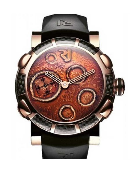 Romain Jerome Moon Dust DNA Gold Mood Ochre In 2-tone With Peach Dial Men's Watch