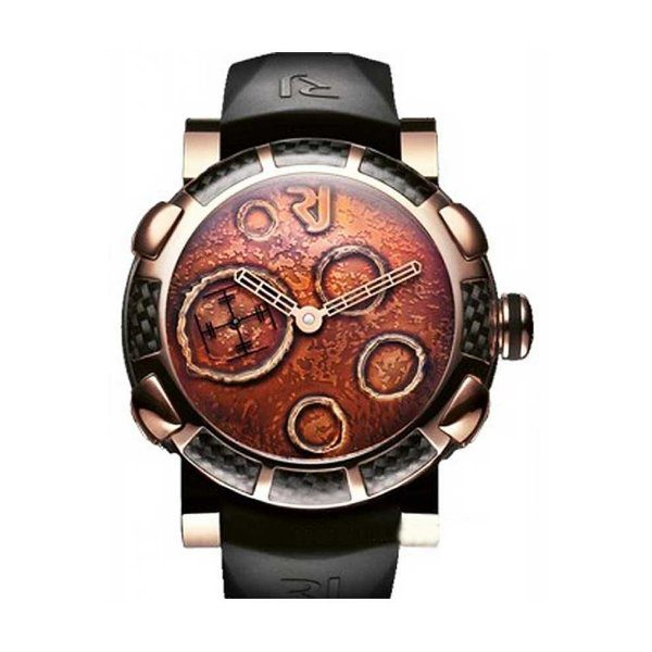 ROMAIN JEROME MOON DUST DNA GOLD MOOD OCHRE IN 2-TONE WITH PEACH DIAL MEN'S WATCH REF. MO.F2.22BB.00
