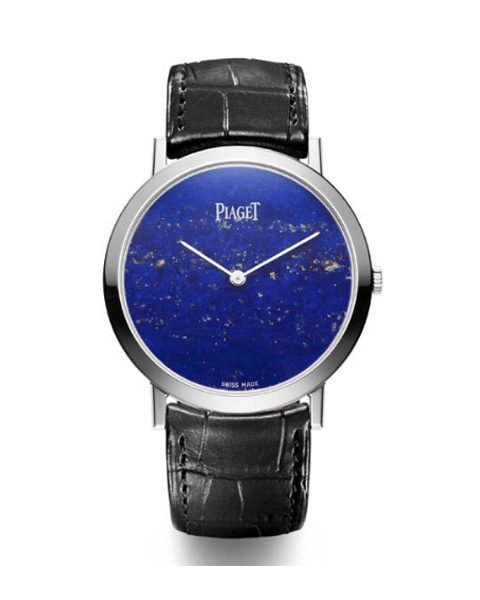 PIAGET ALTIPLANO WHITE GOLD HARD STONE DIAL LAPIS LAZULI LADIES WATCH REF. G0A37200