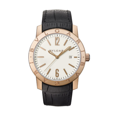 Bvlgari Pre-owned Solotempo 39mm Pink Gold White Men's Watch