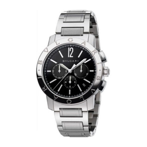 Bvlgari Pre-owned Chronograph 41mm Stainless Steel Men's Watch