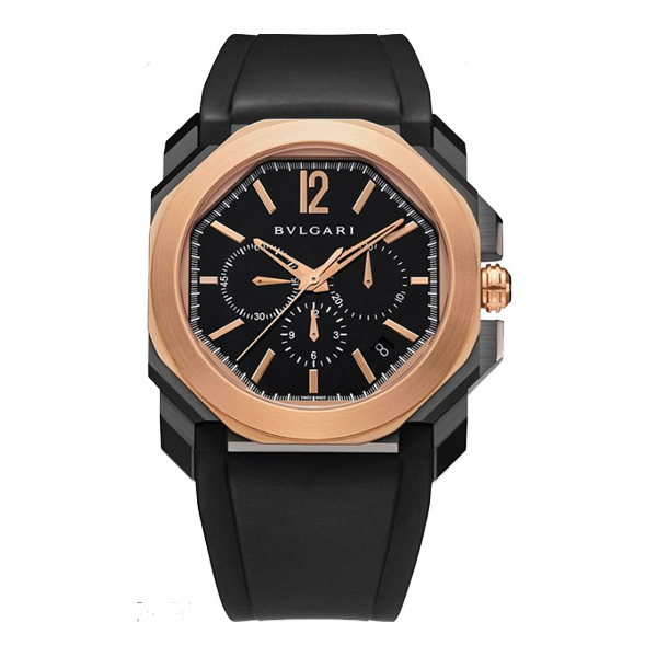 Bvlgari Pre-owned Octo Stainless Steel & 18k Rose Gold Men's Watch