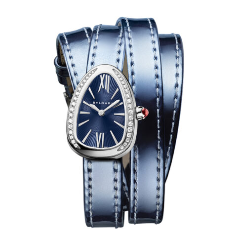 BVLGARI SERPENTI 27MM STAINLESS STEEL BLUE LACQUARED DIAL LADIES WATCH REF. 102967