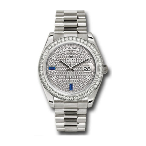 ROLEX OYSTER PERPETUAL DAY-DATE 40MM WHITE GOLD MEN'S WATCH REF. 228349RBR