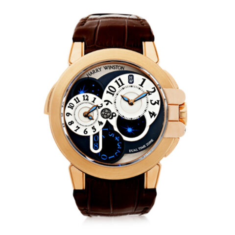 HARRY WINSTON PINK GOLD AUTOMATIC DUAL TIME MEN'S WATCH REF. 400/MATZ44R