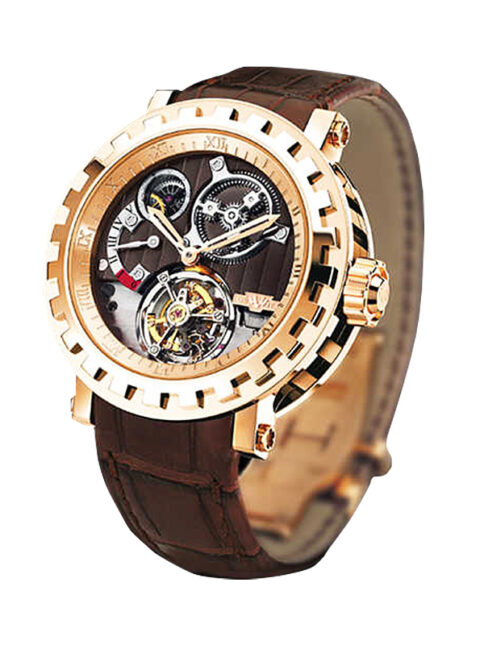 DEWITT TOURBILLON DIFFERENTIEL MANUAL IN ROSE GOLD ON BROWN CHOCOLATE DIAL REF. AC.8002.53.M1052