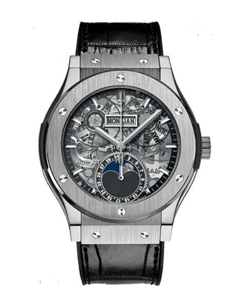 HUBLOT CLASSIC FUSION TITANIUM WATCH MEN'S WATCH REF. 547.NX.0170.LR