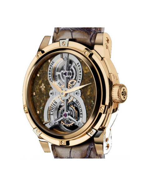 LOUIS MOINET LIMITED EDITION BRONZITE UNIQUE TIMEPIECE REF. LM-14.44.06