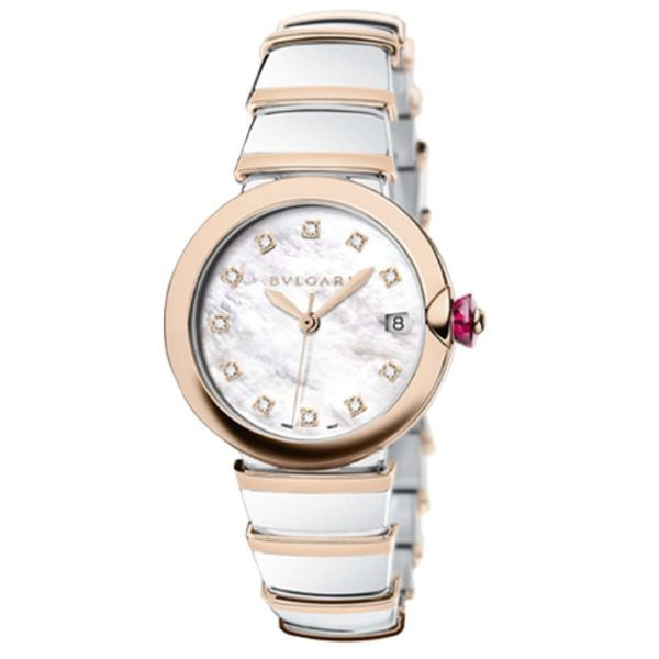 BVLGARI LVCEA 18K ROSE GOLD LADIES WATCH REF. 102384 LU36WSPGSPGD/11