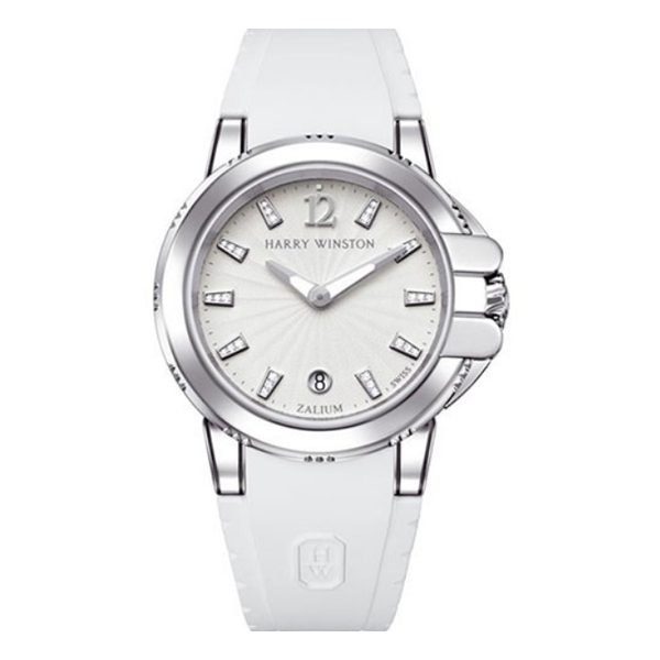 HARRY WINSTON OCEAN DIAMOND WHITE DIAL LADIES WATCH REF. OCSQHD36ZZ001