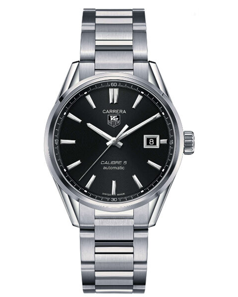 TAG HEUER CARRERA CALIBRE 5 BLACK DIAL MEN'S WATCH REF. WAR211A.BA0782