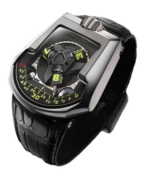 URWERK TURBINE REVOLVING SATELLITE COMPLICATION WITH TELESCOPIC MINUTES HANDS MEN'S WATCH REF. UR-202