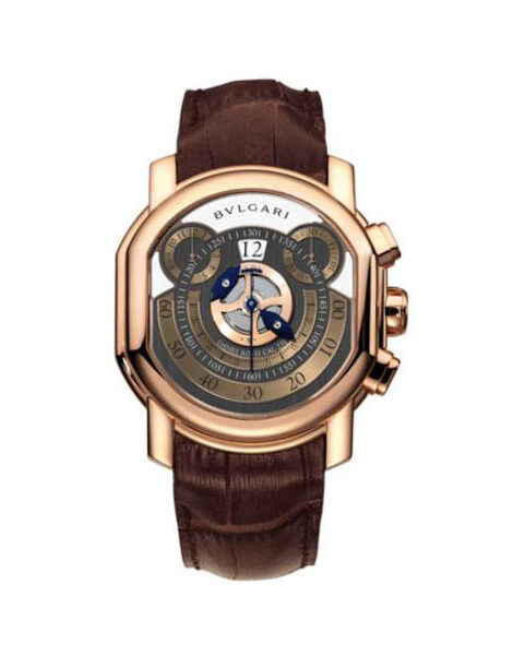 BVLGARI DANIEL ROTH 46X42MM PINK GOLD ANTHRACITE GREY WITH SILVER DIAL MEN'S WATCH REF. BRRP46C14GLCHP