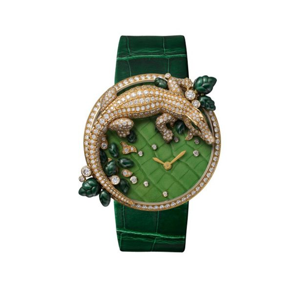 CARTIER LES INDOMPTABLES DE CARTIER DECOR CROCODILE 40MM LADIES WATCH REF. HPI00714