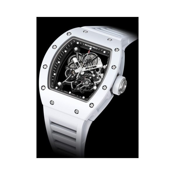 RICHARD MILLE BUBBA WATSON WHITE RUBBERIZED TITANIUM MEN'S WATCH REF. RM 055