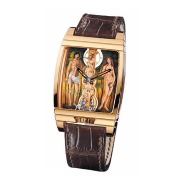 CORUM GOLDEN BRIDGE ADAM AND EVE LADIES WATCH REF. 113.760.55/0081 ADEV