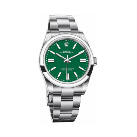 ROLEX OYSTER PERPETUAL 41 STAINLESS STEEL / GREEN REF.124300-0005