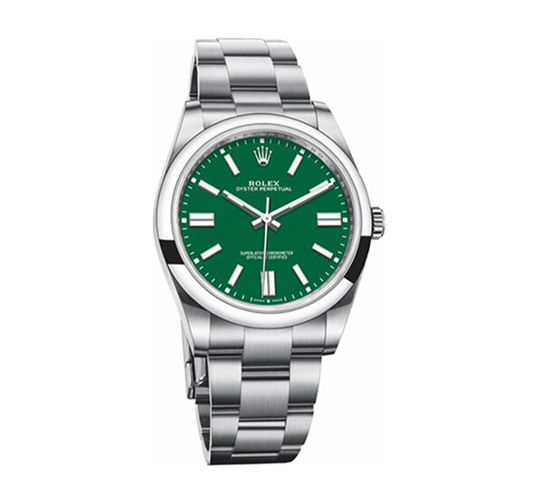 Rolex Pre-owned Oyster Perpetual 41 Stainless Steel / Green Men's Watch