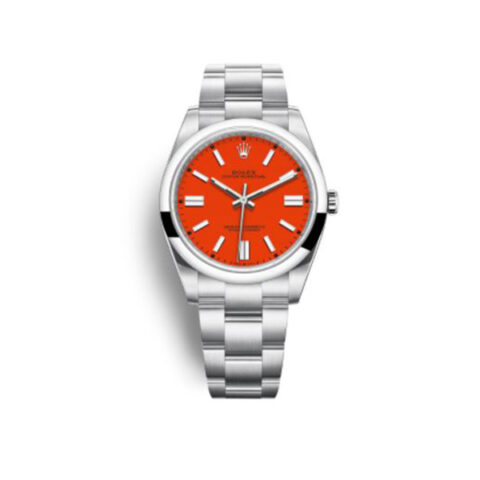 ROLEX OYSTER PERPETUAL 41 STAINLESS STEEL / RED REF. 124300-0007