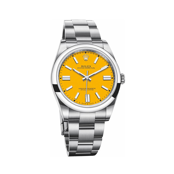 ROLEX OYSTER PERPETUAL 41 STAINLESS STEEL / YELLOW REF. 124300-0004