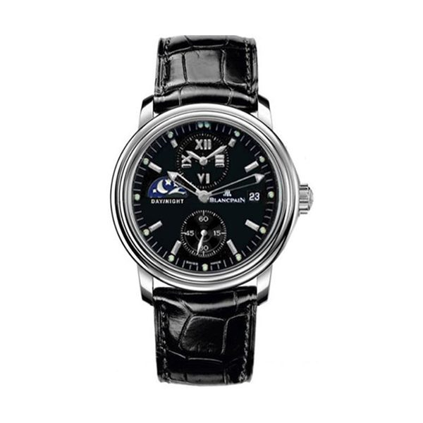 BLANCPAIN LEMAN DOUBLE TIME ZONE 38MM MENS WATCH REF. 2160-1130-53B