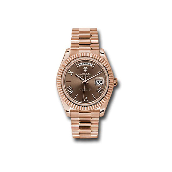 ROLEX DAY-DATE ROSE GOLD 40MM MEN'S WATCH REF. 228235 CHORP