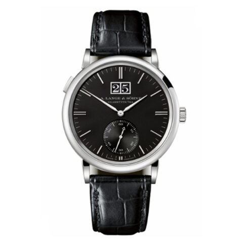 A. LANGE & SÖHNE  SAXONIA OUTSIZE DATE WHITE GOLD MEN'S WATCH REF. 381.029