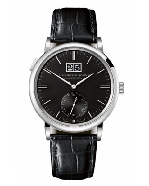 A. Lange & Söhne Pre-owned Saxonia Outsize Date White Gold Men's Watch Ref. 381.029