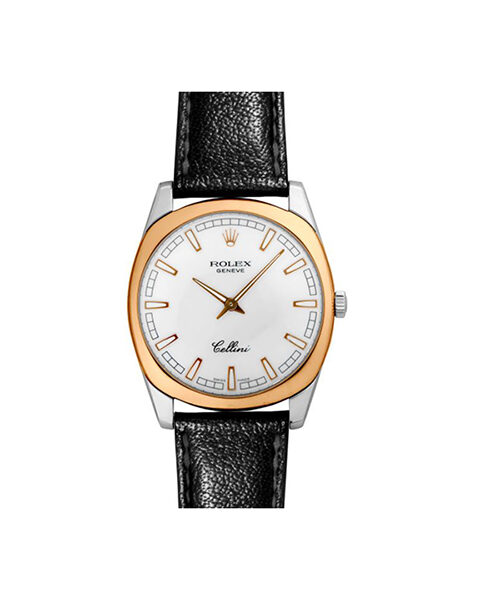 Rolex Cellini 38mm Rose Gold And White Gold Men's Watch