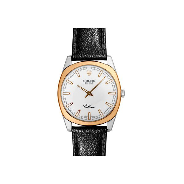 ROLEX CELLINI 38MM ROSE GOLD AND WHITE GOLD MEN'S WATCH REF. 4243/9