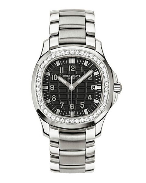 PATEK PHILIPPE AQUANAUT LUCE DIAMOND BLACK DIAL STAINLESS STEEL LADIES WATCH REF. 5087/1A-001
