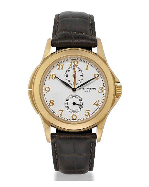 PATEK PHILIPPE TRAVEL TIME 18K YELLOW GOLD MANUAL WIND DUAL TIME LADIES WATCH REF. 5134J-001