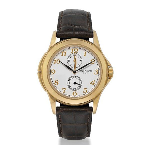 Patek Philippe Pre-Owned Travel Time 18k Yellow Gold Manual Wind Dual Time Ladies Watch Ref. 5134J-001