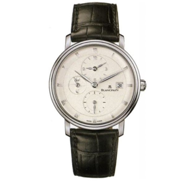 BLANCPAIN VILLERET GMT/DOUBLE TIME ZONE MENS WATCH REF. 6260-1542-55B