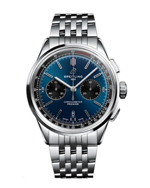 BREITLING PREMIER B01 CHRONOGRAPH AUTOMATIC CHRONOMETER MEN'S WATCH REF. AB0118221C1A1