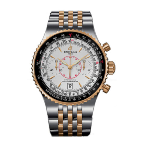 Breitling Pre-owned Montbrillant Le Grande Steel & Yellow Gold Men's Watch