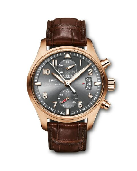 IWC PILOT SPITFIRE CHRONOGRAPH 18KT ROSE GOLD MEN'S WATCH REF IW387803