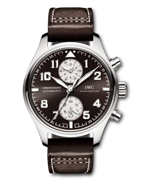 IWC SCHAFFHAUSEN PILOT ANTOINE DE SAINT EXUPERY 43MM STAINLESS STEEL MEN'S WATCH REF IW387806