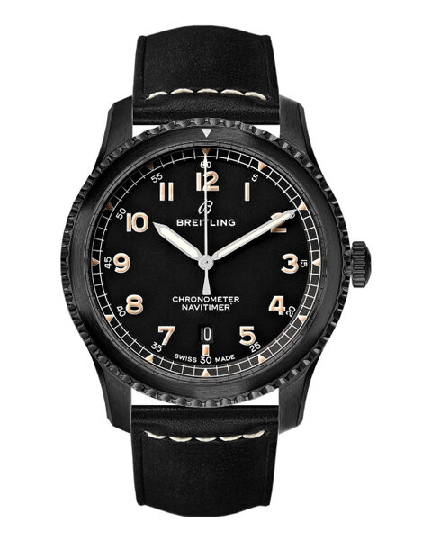 BREITLING PRE-OWNED NAVITIMER 8 AUTOMATIC 41MM BLACK STEEL MEN'S WATCH REF. M17314101B1X1