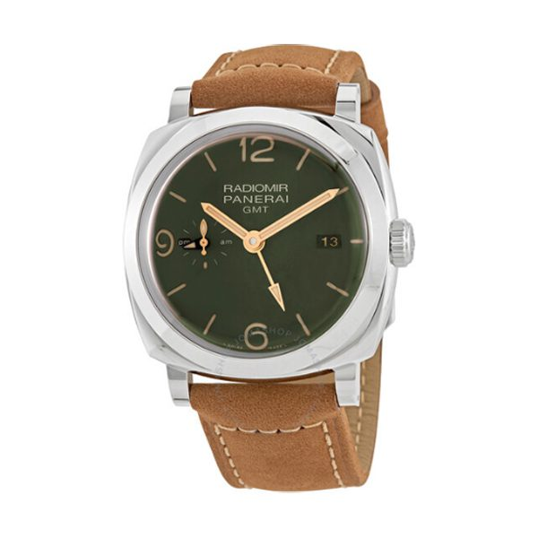 PANERAI RDIOMIR GMT MILITARY GREEN DIAL MEN'S WATCH REF. PAM00998