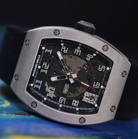 Richard Mille Pre-owned Rm005 White Gold Automatic Men's Watch