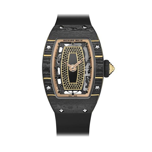 RICHARD MILLE GOLD CARBON TPT ONYX DIAL SET WITH BLACK SAPPHIRES REF. RM07-01 RG CAO