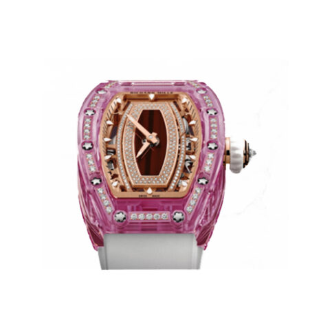 RICHARD MILLE PINK LADY SAPPHIRE PAVED DIAMONDS LADIES WATCH REF. RM07-02