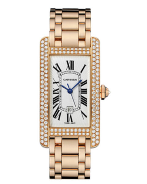 Cartier Pre-owned Tank Americaine 18k Rose Gold Ladies Watch