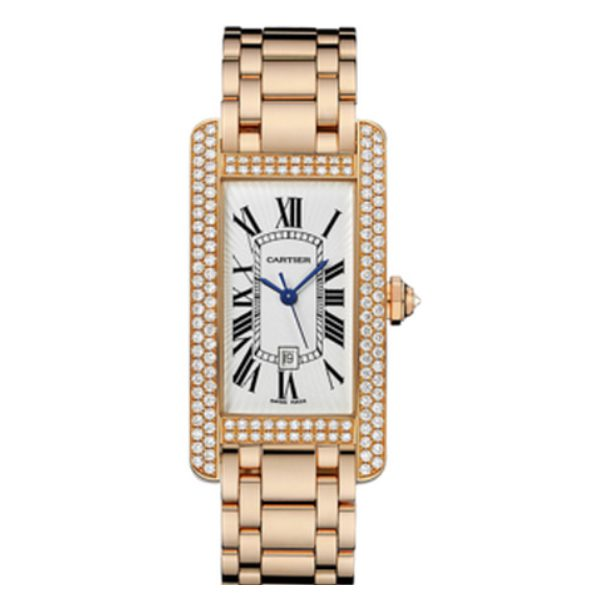CARTIER TANK AMERICAINE 18K ROSE GOLD LADIES WATCH REF. WB710003