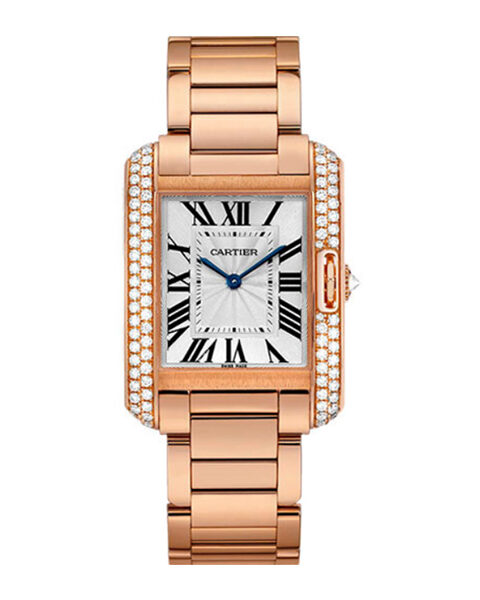 Cartier Pre-owned Tank Anglaise 34.7mm Pink Gold Case Ladies Watch