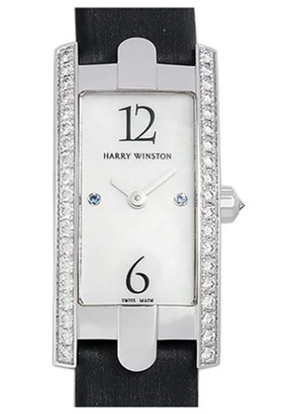 HARRY WINSTON THE AVENUE C MINI 2P SAPPHIRE REF. AVCQHM16WW039