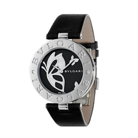 BVLGARI Pre-Owned B.Zero1 Black Dial With Embost Floral Design Ladies Watch