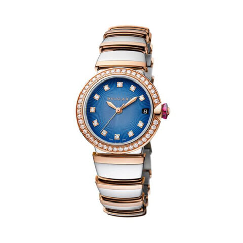 BVLGARI Pre-Owned Lvcea Stainless Steel and Rose Gold Ladies' Watch